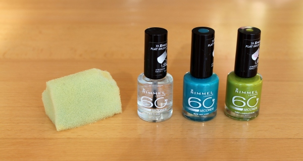 NOTD Blue Meets Green