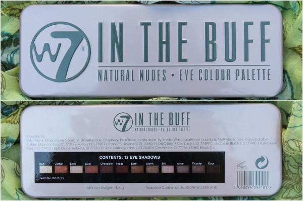 Review: W7 In The Buff Natural Nudes Eye Colour Palette